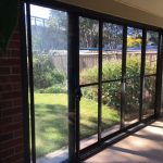 sliding door to backyard
