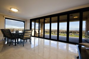 Folding Doors with a view from lounge room