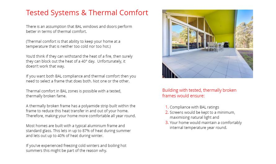 Tested Systems Thermal Comfort