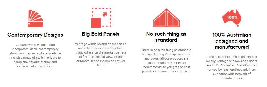 Vanatge Residential windows and doors
